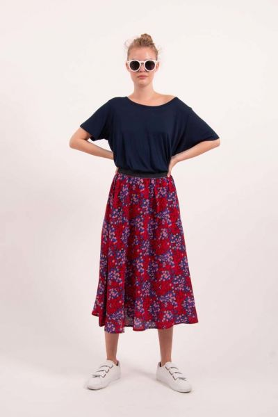 Chacha Skirt Berry Good Blue/Red
