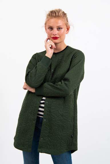 Maude Thermo Coat Dark Khaki