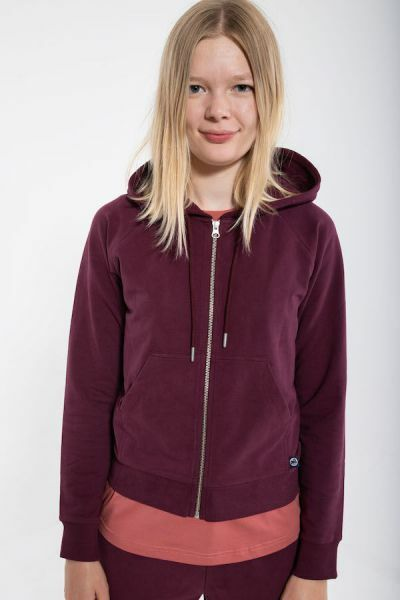 ORGANIC - Gymnastik Zip-up Dark Bdx