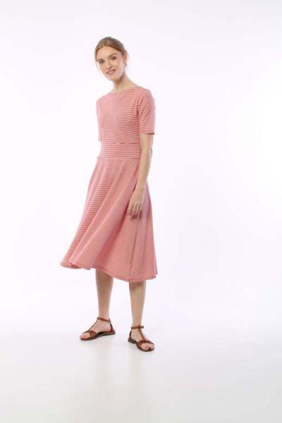 ORGANIC - Charlotte Dress Red/Chalk
