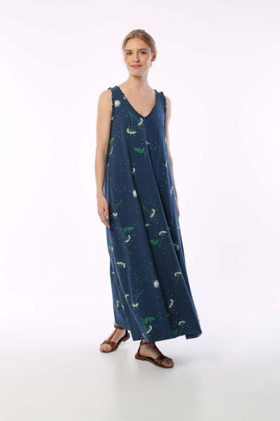 ORGANIC - Swoop Dress Cold Slate MEADOW