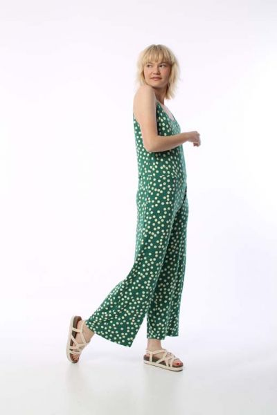 Mimosa suit Hunter Green/Chalk BIG FUNNY DOTS