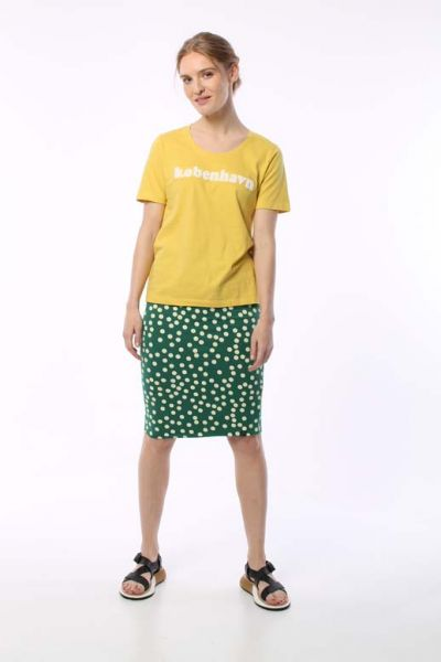 Betsy Skirt Hunter Green/Chalk BIG FUNNY DOTS