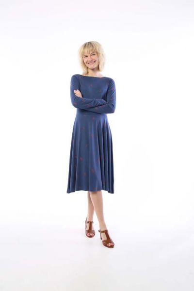 Sigrid Dress Cold Slate MARKBLOMST