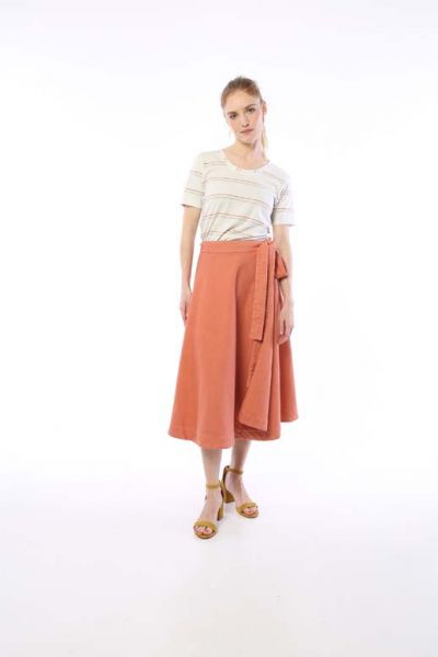Hep Skirt Dark Peach