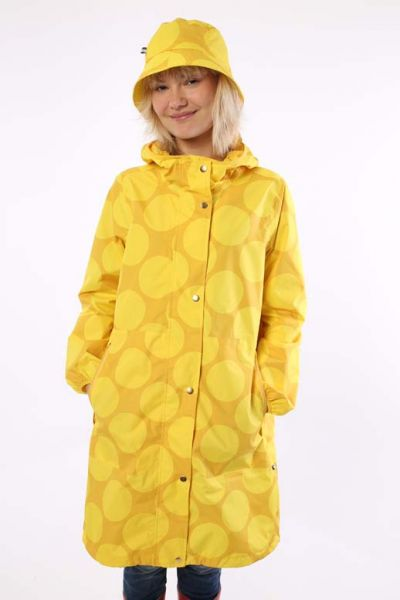 Edith Rainjacket Mustard/Yellow MEGADOT