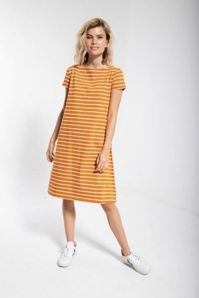 ORGANIC - Domingo Dress Honey/chalk