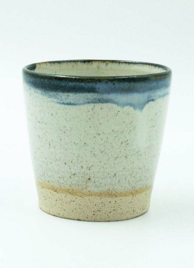 Hagen Mocca Cup White/Blue Ring