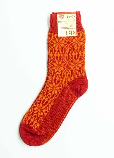 Nuno Socks Dk Red/Orange