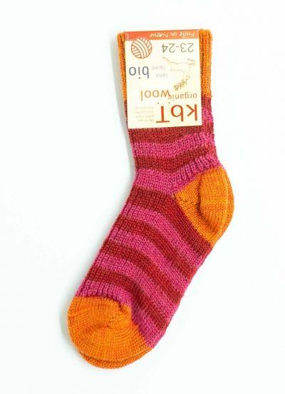 Nuno Socks Stripes Raspberry/Red/Mango