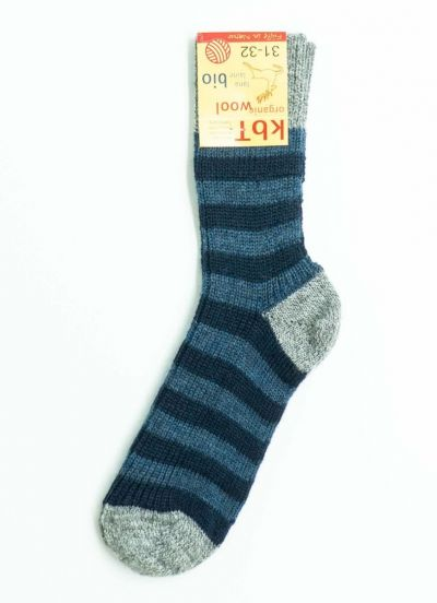Nuno Socks Stripes Grey/Jeans/Marine