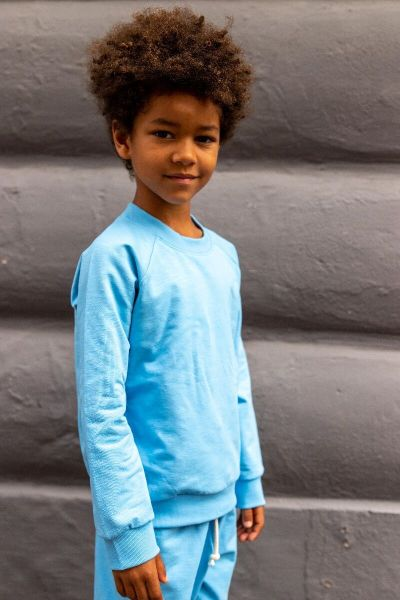 ESS - ORGANIC Mineral Sweater Baby blue