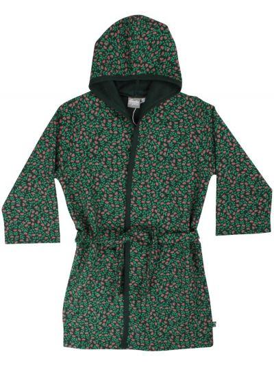 Organic - Earlybird Housecoat Black/green FLEURIE
