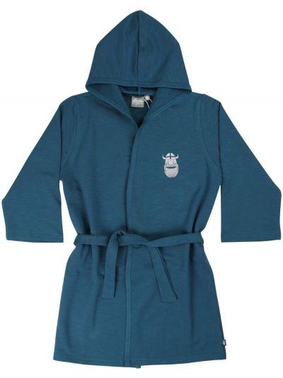 Organic - Earlybird Housecoat Stone Blue