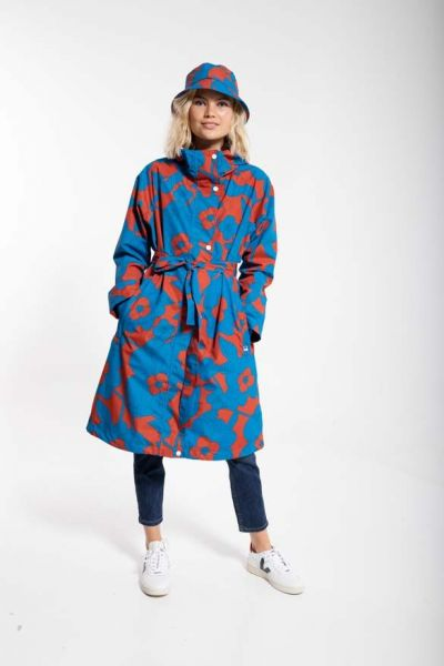 Elisabeth Raincoat Rust/Warm Indigo BLOOM BOOM