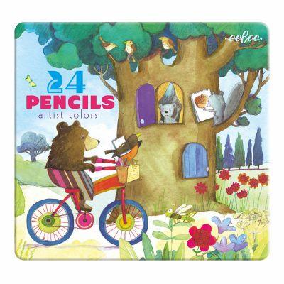 Room2play 24 Farveblyanter Børn på cykel