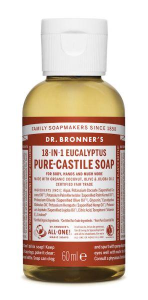 Dr.Bronner's Liquid Soap 60ml Eucalyptus