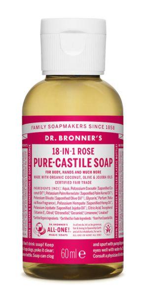 Dr.Bronner's Liquid Soap 60ml Rose