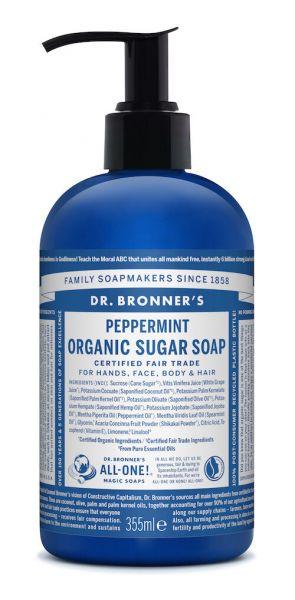 Dr.Bronner's Organic Sugar Soap 355ml Peppermint