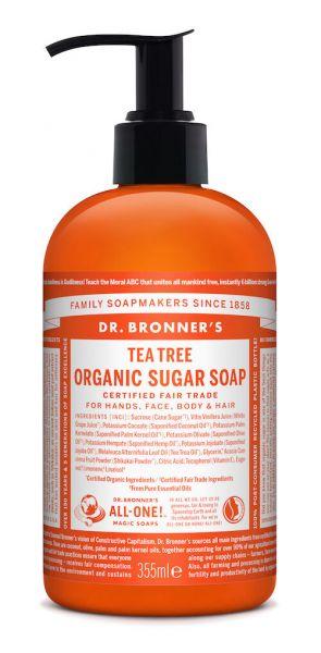 Dr.Bronner's Organic Sugar Soap 355ml Tea Tree