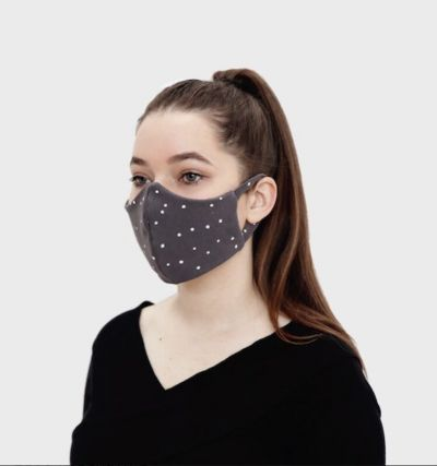 Stofmaske - Voksen Antracitgrå