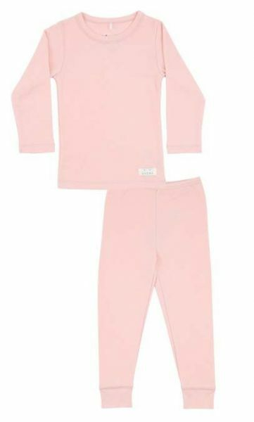 SNORK Basic LS Pyjamas Potpurri Light Rosa