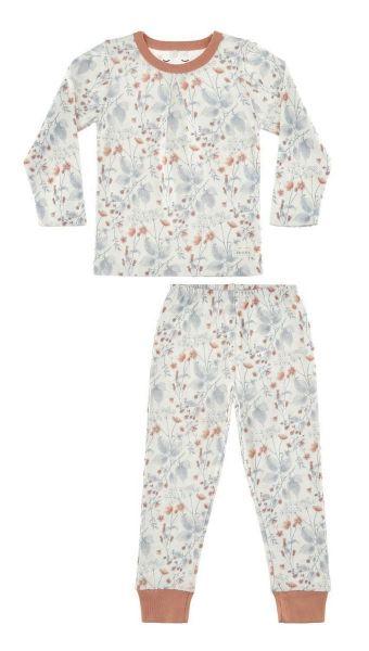 SNORK LS Pyjamas White Flora