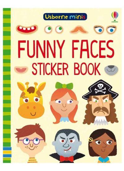 Usborne-Minis Sticker Book Funny Faces