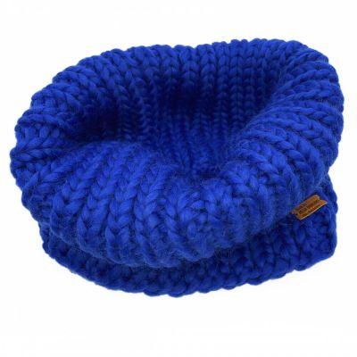 Håndstrikket Merinould Halsvarmer Galaxy Blue