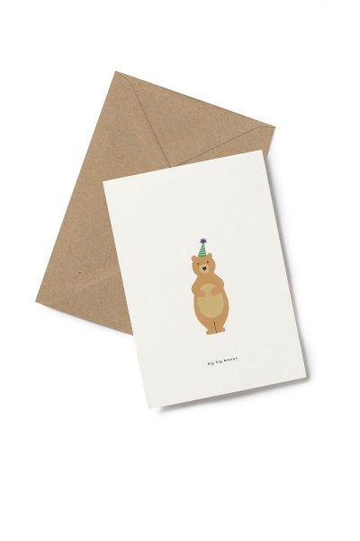 Kartotek Kort Birthday Bear