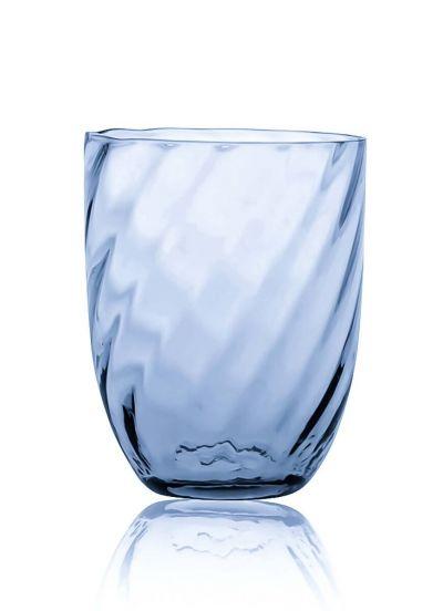 Anna Von Lipa Swirl Tumbler Glas Blue Smoke