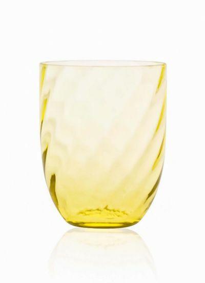 Anna Von Lipa Swirl Tumbler Glas Citron