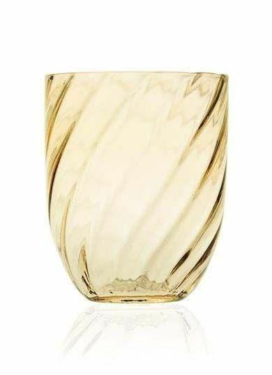 Anna Von Lipa Swirl Tumbler Glas Light Amber