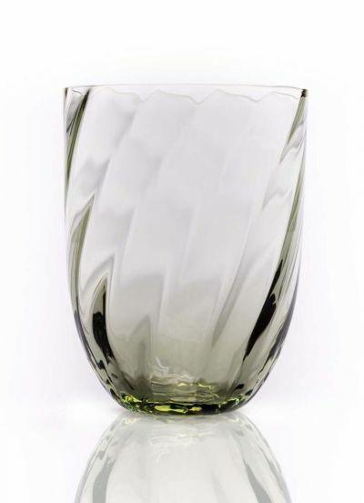 Anna Von Lipa Swirl Tumbler Glas Olive Green