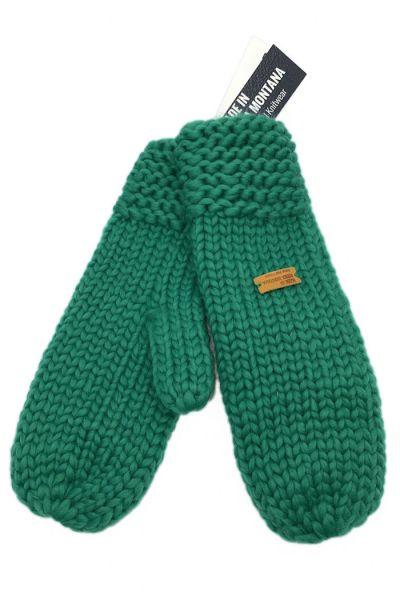 Håndstrikket Merinould Vanter Ultramarine Green