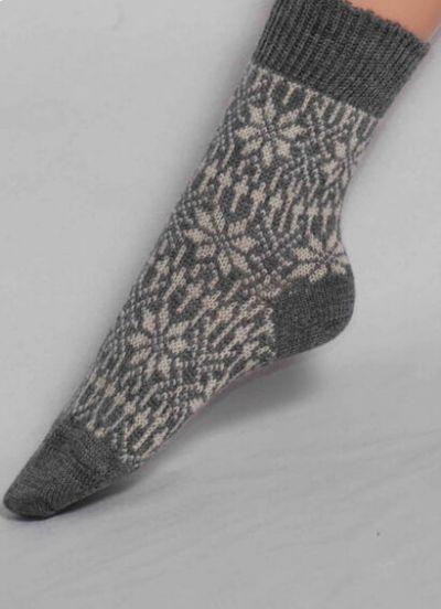 Nuno Socks Grey/White