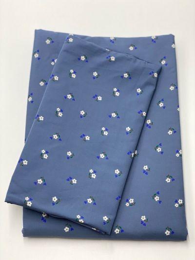 ESS - ORGANIC Bedlinen Baby Grey Blue MINIFLOWER