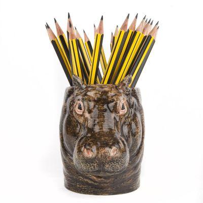 Quail Pencil Pot Hippo