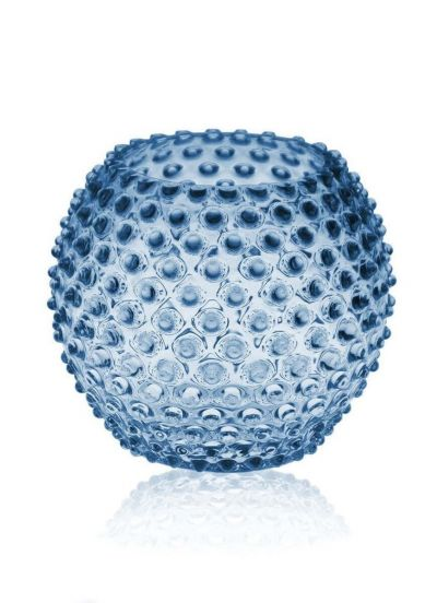 Anna Von Lipa Hobnail Globe Vase 18cm Blue Smoke