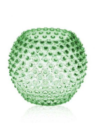 Anna Von Lipa Hobnail Globe Vase 18cm Light Green