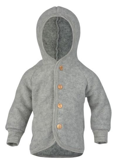 Engel Natur Hooded Jacket Lt Grey Melange