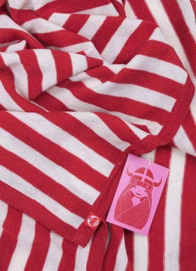Baby blanket Red/Offwhite