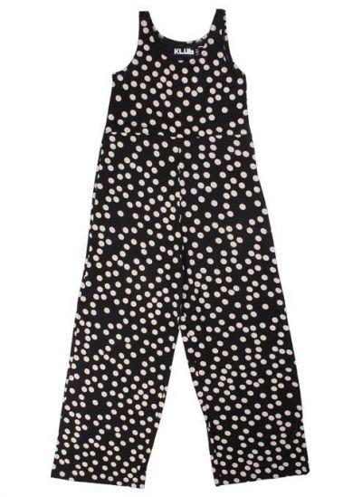 Mimi Suit Black/Offwhite Dots