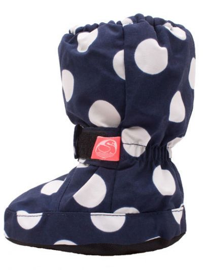 Booties Navy/white Dots