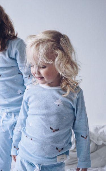 SNORK X-MAS LS Pyjamas Soft Blue