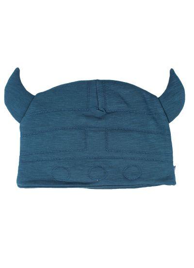 ORGANIC - Hot Head Beanie Stone Blue