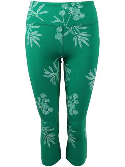 ESS - Bamboo 3/4 leggings Green/chalk HEMLOCK