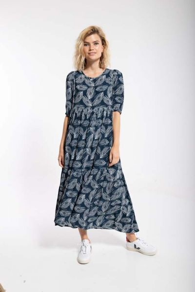 Juli Dress Dusty navy/chalk PALMA