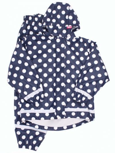 Karl Rain Set Navy/White DOTS