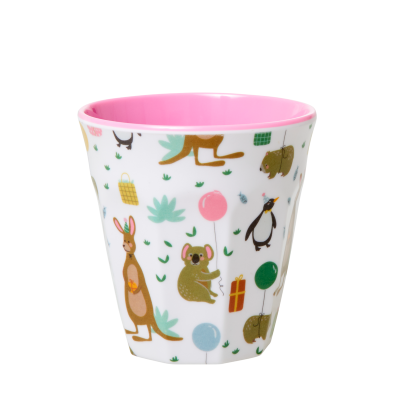 Rice Melamin Børnekop Pink PARTY ANIMAL